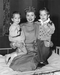 Mike (left) and Joe Mayer both played Little Ricky as a toddler. (File:Lucille Ball I love Lucy Little Ricky actors 1955.JPG) wiki