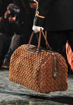 Louis Vuitton Fall 2012 brown raised LV print handbag