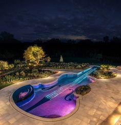 1700s-Era Stradivarius Violin Transformed Into Glittering Award-Winning Swimming Pool   #SanAntonioLuxuryHomeMagazine