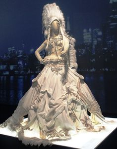 Sidewalk to Catwalk Exhibition Melbourne, Australia 2014-2015. Bridal dress.