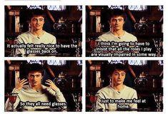 Daniel Radcliffe on glasses Harry Potter