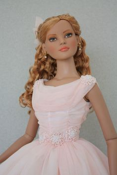 Soft Pink Dress for American Model Doll- BabetteDoll Fashions