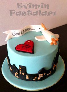 Uçak, butik pasta , seker hamuru