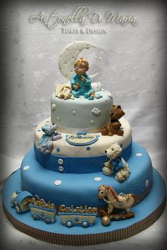 christening with playing toys - Cake by Antonella Di Maria