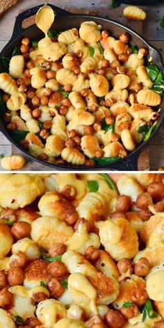 Gnocchi Recipes, Vegan Gnocchi Recipe, Gluten Free Gnocchi, Chickpea Recipes Easy, Healthy Crockpot Recipes, Delicious Vegan Recipes, Cooking Recipes, Vegan Gluten Free, Vegan Egg