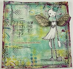 Ink,Paint, Beads: Spreading your wings...tutorial