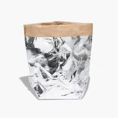 Essent'ial™ Il Sacchino Medium Paper Bag in Silver : HOME & GIFT | Madewell