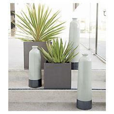 "Grey Fiberstone 16.5""sq. Planter in Garden, Patio | Crate and Barrel"