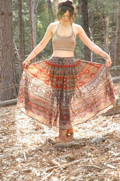 Broomstick Skirt... Indian Cotton Skirt... by AstralBoutique, $38.00