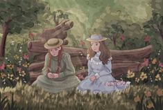 Anne with an E art Gilbert And Anne, Anne White, Anne With An E, Little Library, Anne Shirley, Fanart, Kindred Spirits, Period Dramas, Art Drawings
