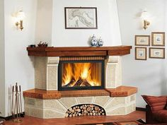 Country Fireplace, Rustic Fireplaces, Home Fireplace, Fireplace Remodel, Living Room With Fireplace, Fireplace Design, Fancy Living Rooms, Design Case, House Design