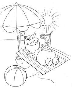Olaf is a fictional character who appears in Walt Disney Animation Studios' animated film Frozen. Olaf is a snowman created by Elsa. Frozen Coloring Sheets, Summer Coloring Sheets, Beach Coloring Pages, Frozen Coloring Pages, Free Coloring, Adult Coloring Pages, Coloring Pages For Kids, Coloring Books, Kids Coloring