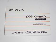 1995 toyota camry owners manual book guide owners manuals pinterest 1999 toyota camry solara owners manual book fandeluxe Images