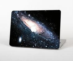 """The Swirling Glowing Starry Galaxy Skin Set for the Apple MacBook Pro 15"""" with Retina Display from Design Skinz"""