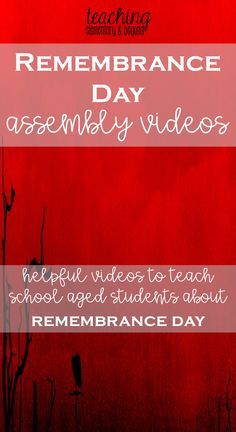 This list of Remembrance Day Videos will help any teacher plan an assembly or help their students reflect. Poems, songs and thoughtful quotes are included in the various videos. Remembrance Day Poems, Remembrance Day Activities, November 11 Remembrance Day, Full Day Kindergarten, Kindergarten Classroom, Primary Science, Teaching Social Studies, Teaching Music, Anzac Day