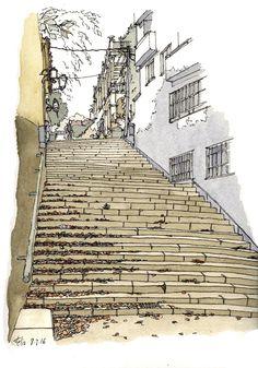 Escales del carrer Menéndez Pelayo