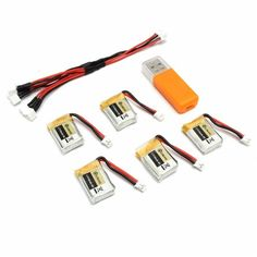 14.24$  Buy here - http://ali89x.shopchina.info/go.php?t=32767151286 - Hot New 5PCS Eachine E010 3.7V 150MAH 45C Upgrade Battery USB Charger Set RC Quadcopter  JJRC H36 Spare Parts 14.24$ #aliexpressideas
