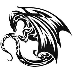Tribal Dragon Fantasy Meval 1 Vinyl Decal Sticker  BallzBeatz . com