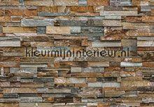 Colorful stone wall fotobehang 00159 Steden - Gebouwen Ideal Decor