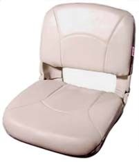 Folding Seat:  Molded plastic seat frame and white cushions.  Ref.WD135LS-710 Height.51 cms Width.48 cms Depth.46 cms  http://safeseashop.com/product/folding-seat-3/