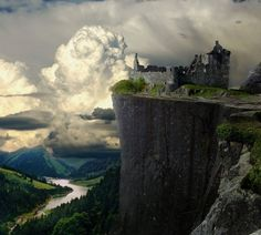 Cliff Castle Ruins, Germany  photo via sharon