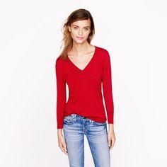 J.Crew - Lightweight merino V-neck sweater
