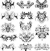 Ornaments. Design elements - vector illustration stock photography