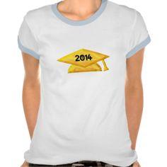 """#2014 Golden """"3-D"""" #Graduation Cap #Tshirts"""
