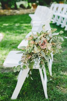 Overflowing Rose and Greenery Aisle Decoration | The Little Branch | Kat Keane Weddings & Events https://www.theknot.com/marketplace/kat-keane-weddings-and-events-west-hollywood-ca-879789 | onelove photography https://www.theknot.com/marketplace/onelove-photography-danville-ca-223204