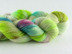Republic of Wool's Twist Fingering in Plume colorway. We love this hand-dyed merino/nylon blend!