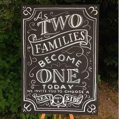 wedding blackboard close up by peter gander via flickr chalk typography typography letters