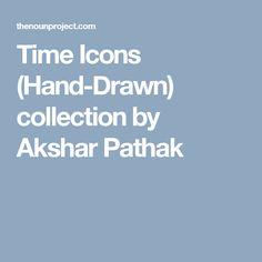 Time Icons (Hand-Drawn) collection by Akshar Pathak