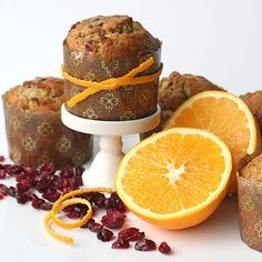 Cranberry-Orange Muffins - by glorioustreats.com