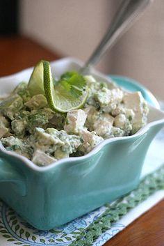 Guacamole Chicken Salad - No mayo!