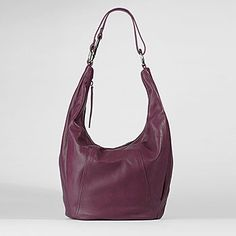 """Hobo International """"In The Bag"""" $268.00 at hobobags.com. Shown here in berry, but I like so many of the colors... A friend came to visit toting this bag in """"Ocean"""" and I thought it fabulous. Convertible shoulder to crossbody? Hello! #handbags"""