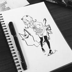 Momo's OC I drew for her by Yennineii