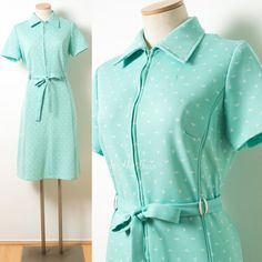 Mod Dress Vintage Mint Green Dress 60s by TrendyHipBuysVintage