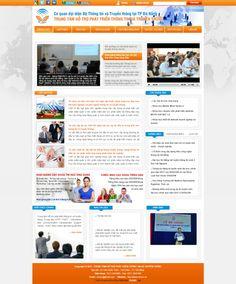 Mẫu web tổ chức truyền thông Đà Nẵng