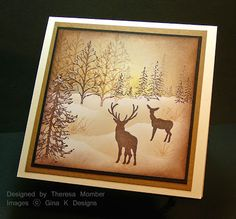 Theresa Momber : Crafting The Web: In the Woods - 12/25/09.  (Pin#1: Christmas: Backgrounds...  PIn+: Christmas: Scenes).