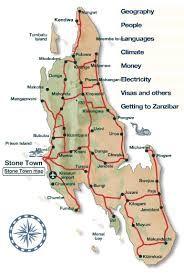 Výsledek obrázku pro stone town zanzibar map