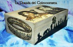 Caja El Señor de los Anillos Caja pirograbada hecha a mano.  fb.com/laposada.delcoleccionista