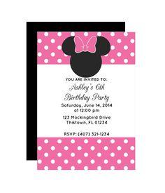 Free Printable Polka Dot Mouse Party Invitation from printablepartydecor.com #freeprintable Minnie Mouse Birthday Invitations, Minnie Mouse Party, Mouse Parties, Free Printable Party Invitations, Party Printables, 6th Birthday Parties, Birthday Bash, Birthday Ideas, Got Party