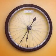 Bicycle tire clock. New use for old gear-- upcycle!