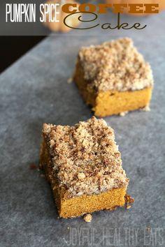 Pumpkin Spice Coffee Cake | www.joyfulhealthyeats.com | #pumpkin # #coffeecake #moist #recipe #breakfast