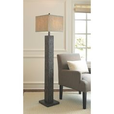 Love this! Looks like it goes well with colors and pattern of kitchen backsplash Threshold™ Floor Lamp Mosaic Wood