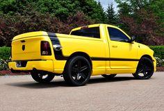 Ram Truck revealed its newest concept vehicle, the Ram 1500 Rumble Bee Concept, at the Woodward Dream Cruise in Detroit. Ram Trucks, Hot Rod Trucks, Dodge Trucks, Pickup Trucks, Toyota Trucks, Lifted Trucks, 2014 Ram 1500, 2016 Ram, Dodge Srt