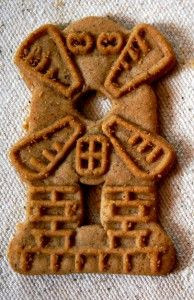 Speculaas cookies! Yummmm with tea or coffee. Dutch people love their cookies:)
