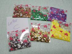 6 buste da 5 gr di glitter - lotto C