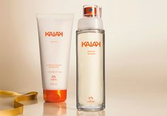 Presente Natura Kaiak Feminino - Desodorante Hidratante Corporal + Desodorante Colônia + Embalagem Desmontada