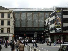 Glasgow, Scotland Central Station... This exact bridge is called The Highland Mans Umbrella!